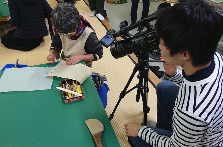 金沢職人の技アーカイブ事業 記録活動の様子