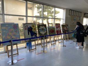 北星中学校での展示の様子